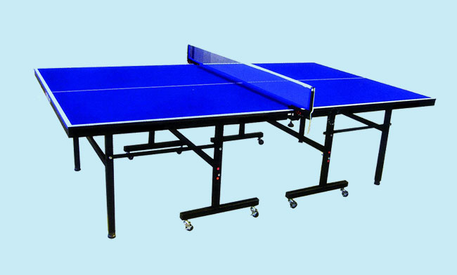 table tennis table blue