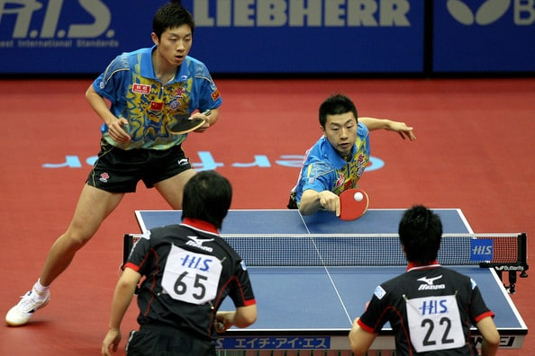 Rules of Playing Double in Ping Pong Game