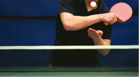 playing ping pong indoor