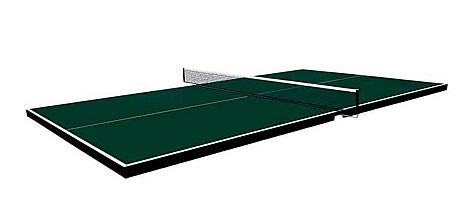 Butterfly ping pong conversion top