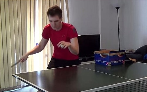 how to topspin serve table tennis