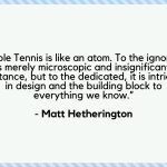 Table Tennis Quotes by Renown Players