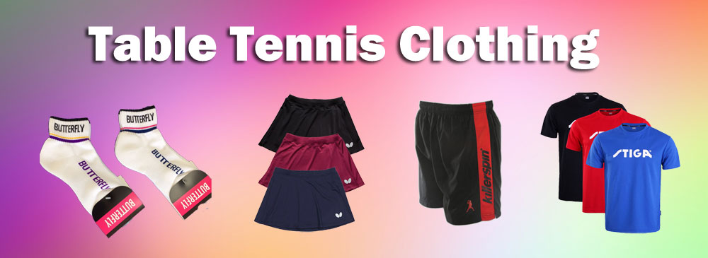 table tennis clothing
