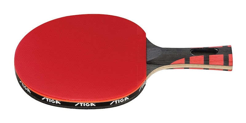 TWO Stiga One Star INSPIRE Table Tennis Bats Ping Pong Racquets Black//Red